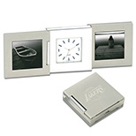Tri-Fold Clock with Picture Frames