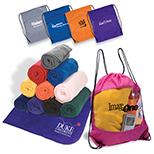 Fleece Throw & Drawstring Bag Combo