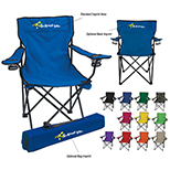 Folding Chair with Cup Holders and Carry Bag