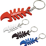 Anti-Wire-Tangle Bottle Opening Key Chain