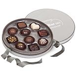Circular Chocolate Box w/ Handmade Belgian Chocolate Truffles