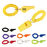 Rally Whistle with Wrist Coil
