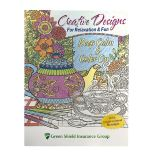 Adult Coloring Book With 12 Designs