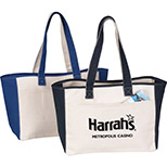 14 oz. Two-Tone Canvas Tote