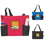 Tri-Panel Tote with Zippered Top