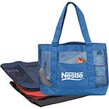 Polyester Tote with Mesh Panels