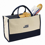 Fashion Tote with Gingham Lining