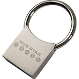 Compact Stainless Steel Key Tag