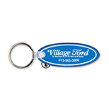 Small Oval Soft Vinyl Key Tag