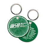 Round Soft Vinyl Key Tag