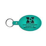 Oval Vinyl Key Tag with 1