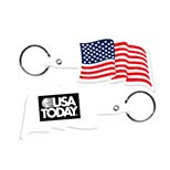 U.S.A. Flag Key Tag