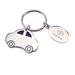 Car-Shaped Nickel Key Tag