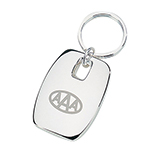 Oblong Silver Finish Key Tag