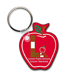 Apple-Shaped Key Tag