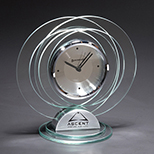 Jade Glass Ring Design Desk Clock