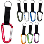 Carabiner with  Webbed Strap