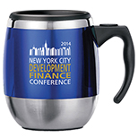 Executive Double Wall Steel Office Mug