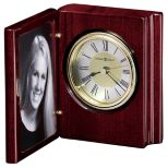 Book Style Portrait Frame with Clock