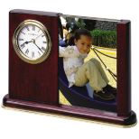 Rosewood Clock and Photo Frame