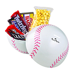 Sport Ball Tin of Popcorn and Candy