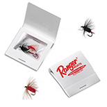 Matchbook with 3 Fly Fishing Lures