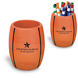 Basketball-Theme Can Holder