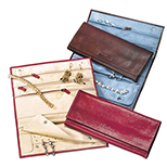 Full Grain Leather Jewelry Travel Case