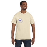 Hanes 6.1 oz. Cotton Authentic Tagless Tee - Neutrals