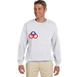 Crew Sweatshirt - White, Neutral,Heather by Gildan