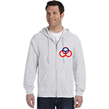 Full Zip Hooded Sweatshirt - Colors by Gildan