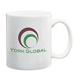 11 oz. White Ceramic C Handle Mug