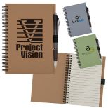Recycled Notebook with Paper Pen