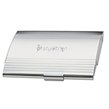 Chrome & Silver Finish Metal Card Case
