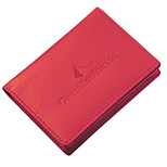 Leather Like Gusseted Business Card Case