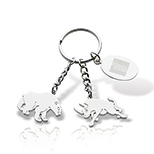 Bull & Bear Charm Key Tag