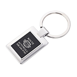 Silver and Black Rectangle Key Tag