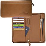 Calfskin Leather Traveler's Wallet