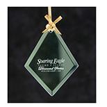 Jade Glass Diamond Ornament