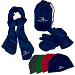 4 Piece Fleece Hat, Gloves & Scarf Set