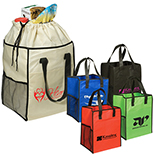 Non-Woven Drawstring Grocery Tote --80gsm