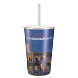 16oz Full Color Cup with Lid & Straw
