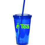 16 oz. Clear Double Wall Tumbler