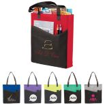 Wave Pocket Non-Woven Convention Tote