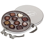 Circular Chocolate Box w/ Handmade Belgian Chocolate Truffles