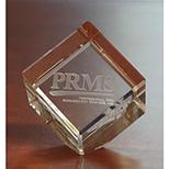 Clear Crystal Cube Award