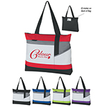 Contrast Color Tote w/ ID Window