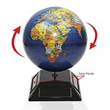 Solar Powered Spinning Globe