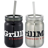 24 oz. Stainless Steel Mason Jar