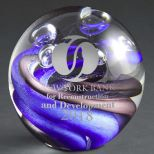 Orb Art Glass Award